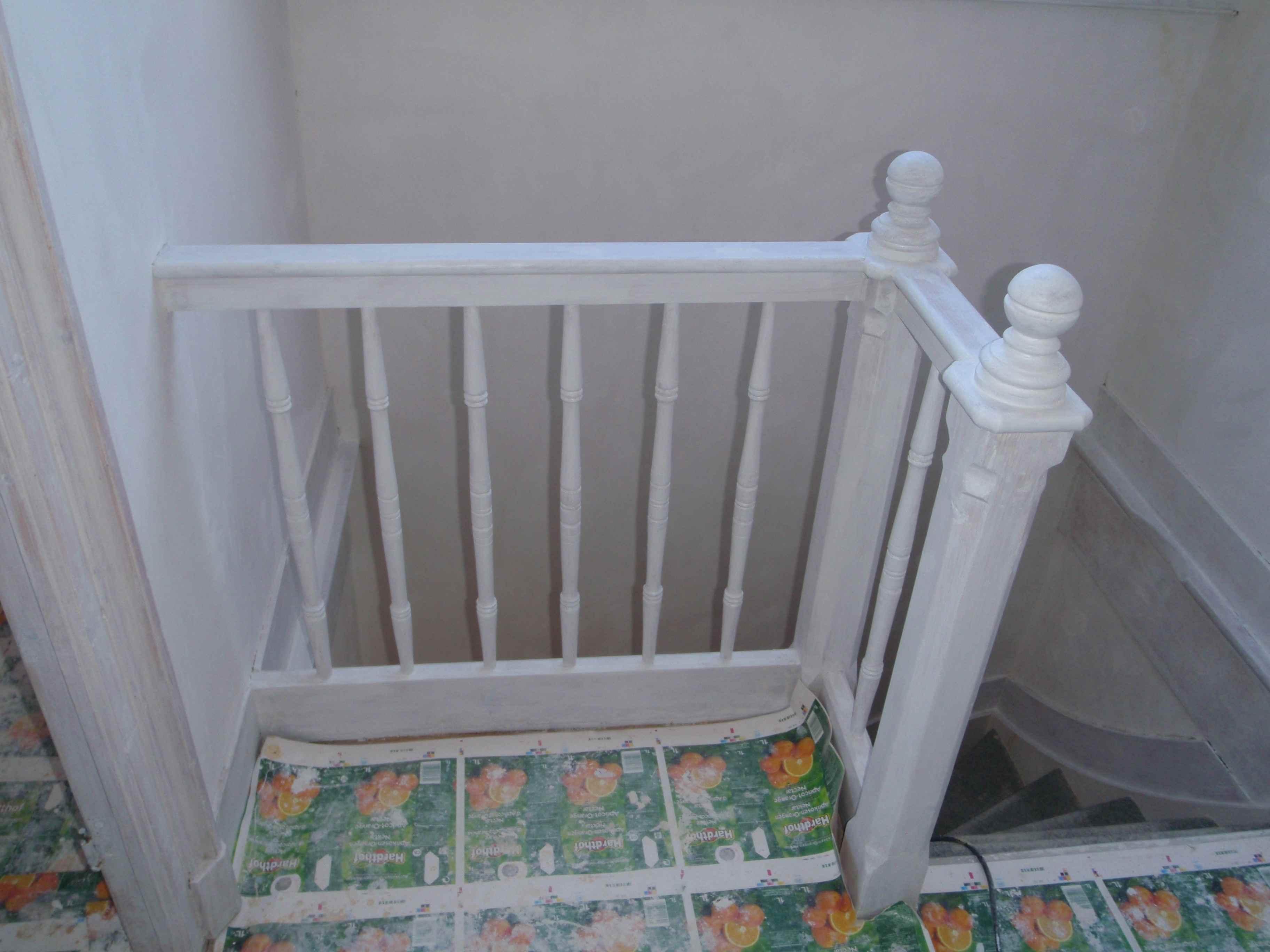 Op bouwen mijn eigen kasteel - Witte trap grijs ...
